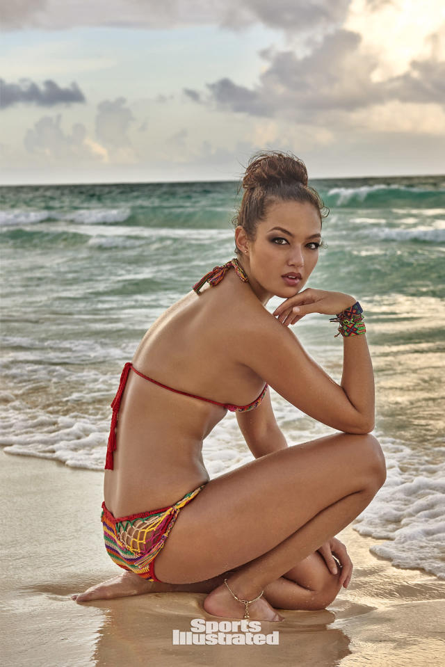 <p>Mia Kang was photographed by Ruven Afanador in Mexico. Swimsuit by Anna Kosturova.</p>