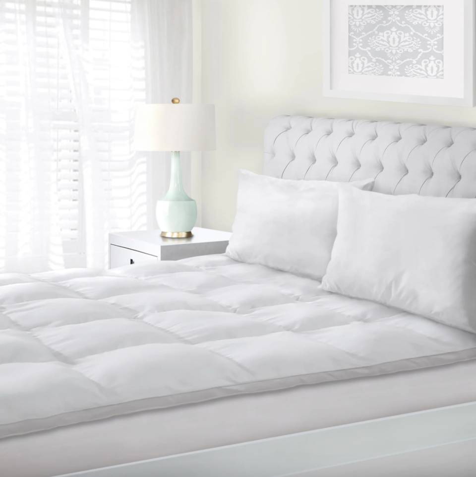 Superior All-Season Down Alternative Hypoallergenic Mattress Topper (Photo via Overstock)