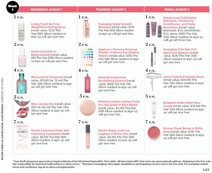 Allure to Give Away 32,000 Beauty Products via Mobile Scanning