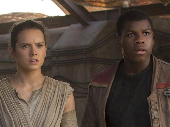 A barometer for what makes someone a movie star: Star Wars leads Daisy Ridley and John Boyega in 2015's 'The Force Awakens': Disney/Lucasfilm