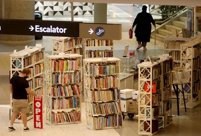 En Route Institute book store opens as customers return to indoor shopping at Westfield Santa Anita.
