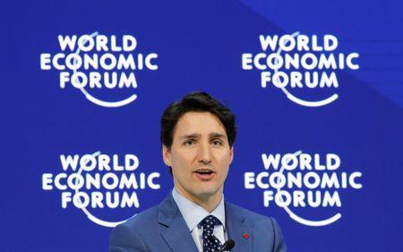 Canada's Prime Minister Justin Trudeau attends the World Economic Forum (WEF) annual meeting in Davos
