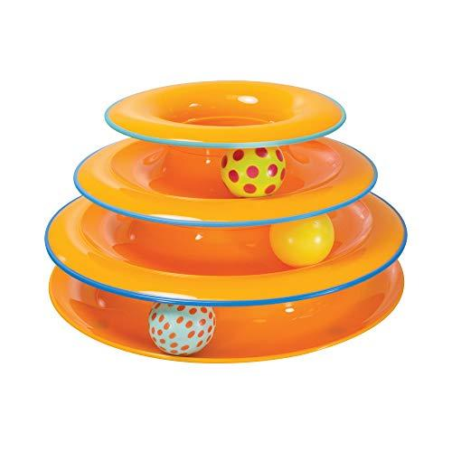Petstages Tower of Tracks Cat Toy - 3 Levels of Interactive Play - Circle Track with Moving Balls Satisfies Kitty's Hunting, Chasing & Exercising Needs (Amazon / Amazon)