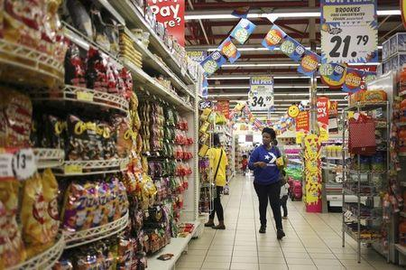 A customer shops at a Shoprite store in Johannesburg