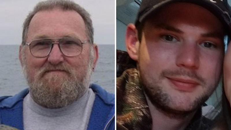 Steven Price (left) and his son Mark Price (right) died after falling at an abandoned quarry. Source: Facebook