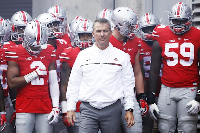 Urban Meyer and the Buckeyes are looking to get back to the College Football Playoff. (Getty)