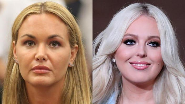 """Vanessa Haydon Trump (left) and Tiffany Trump (right) became """"inappropriately — and perhaps dangerously — close"""" to Secret Service agents, a new book alleges. (Photos by Alec Tabak/Getty Images and Chip Somodevilla/Getty Images)"""