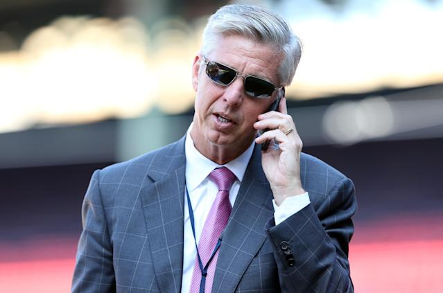 In three-plus seasons with the Boston Red Sox, Dave Dombrowski's teams went to the playoffs three times and won a World Series. (USA TODAY Sports)