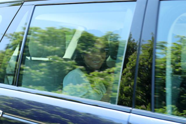 The couple was photographed arriving in Windsor on Thursday. (Photo: Getty)