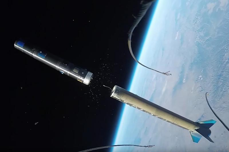 This is what it looks like if you strap a GoPro to a rocket