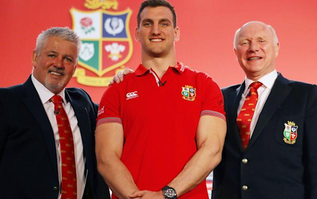<span>Gatland named Sam Warburton (centre) as captain fro the British and Irish Lions tour of New Zealand</span> <span>Credit: Getty Images </span>