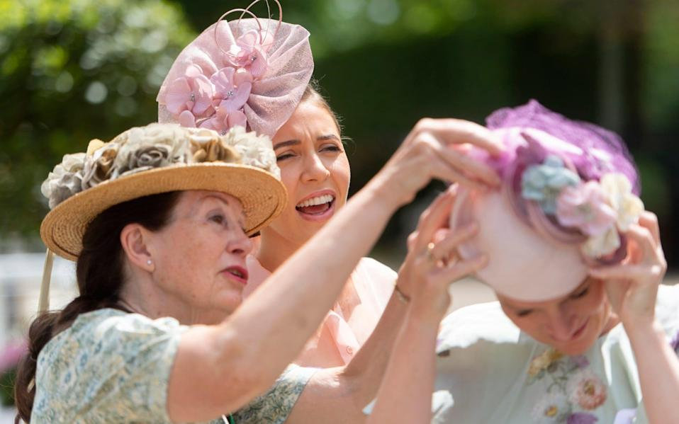 Hats at Royal Ascot - Geoff Pugh for the Telegraph