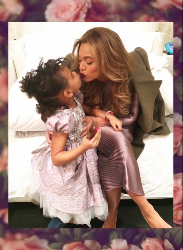 "<p>While visiting the Cooper Hewitt, Smithsonian Design Museum in NYC, <a href=""https://www.yahoo.com/celebrity/tagged/beyonce/"" data-ylk=""slk:Beyoncé"" class=""link rapid-noclick-resp"">Beyoncé</a> and her daughter, Blue Ivy Carter, 5, exhibited their love. (Photo: Beyoncé via Beyoncé.com) </p>"