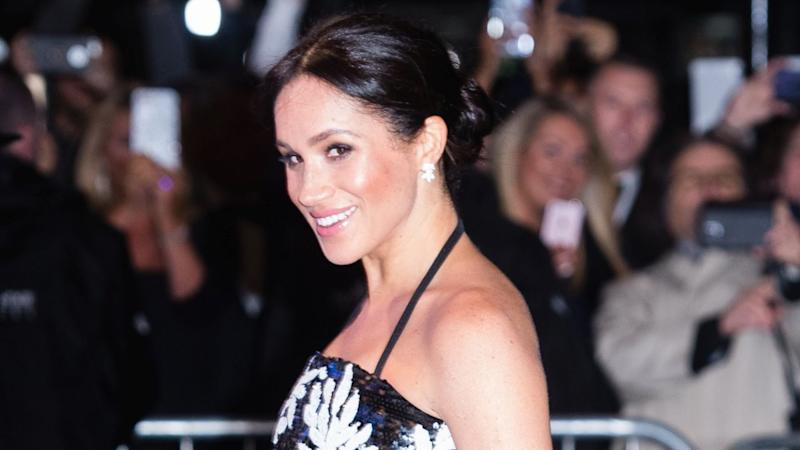The Duchess of Sussex turned heads in London on Monday, stepping out to an event with Prince Harry.