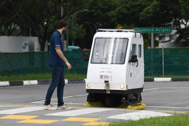 Mock skyscrapers, simulated rain at Singapore self-driving test centre