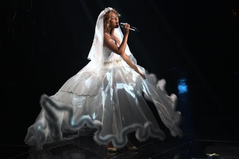 Beyonce's wedding vow renewal dress: Star reveals the couture look she wore for a ceremony with Jay-Z