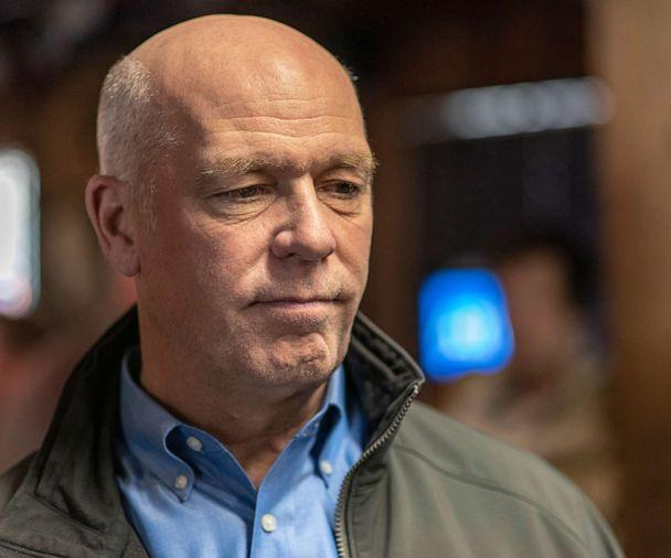 PHOTO: Montana Republican Congressman Greg Gianforte is seen at Chico Hot Springs below Emigrant Peak, Oct. 10, 2018, in Pray, Mo. He was elected the state's governor in 2020. (William Campbell/Corbis via Getty Images, FILE)