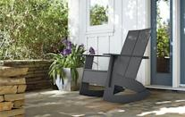 """<p><strong>Home</strong></p><p>roomandboard.com</p><p><strong>$579.00</strong></p><p><a href=""""https://www.roomandboard.com/catalog/outdoor/chairs-and-chaises/emmet-rocker/439653"""" rel=""""nofollow noopener"""" target=""""_blank"""" data-ylk=""""slk:Shop Now"""" class=""""link rapid-noclick-resp"""">Shop Now</a></p><p>Who knew plastic could look this good? There's even a bottle opener tucked beneath the arm rest, so you can keep rocking even when you need another cold one. </p>"""