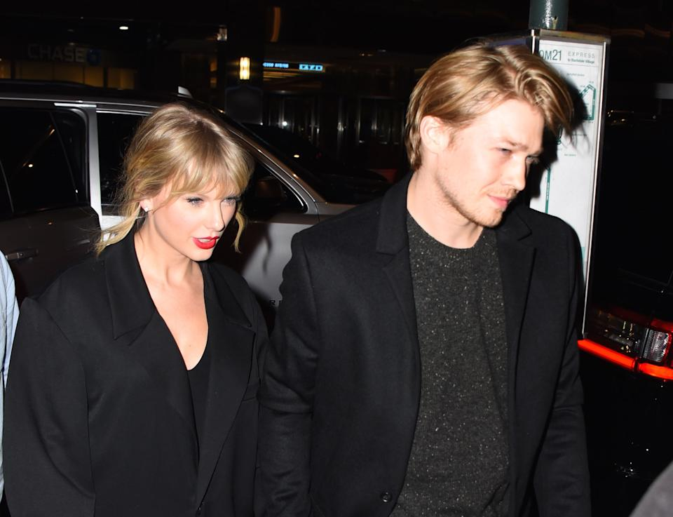 Taylor Swift opens up about life with boyfriend Joe Alwyn. Here they are in Oct. 2019. (Photo: GC Images)