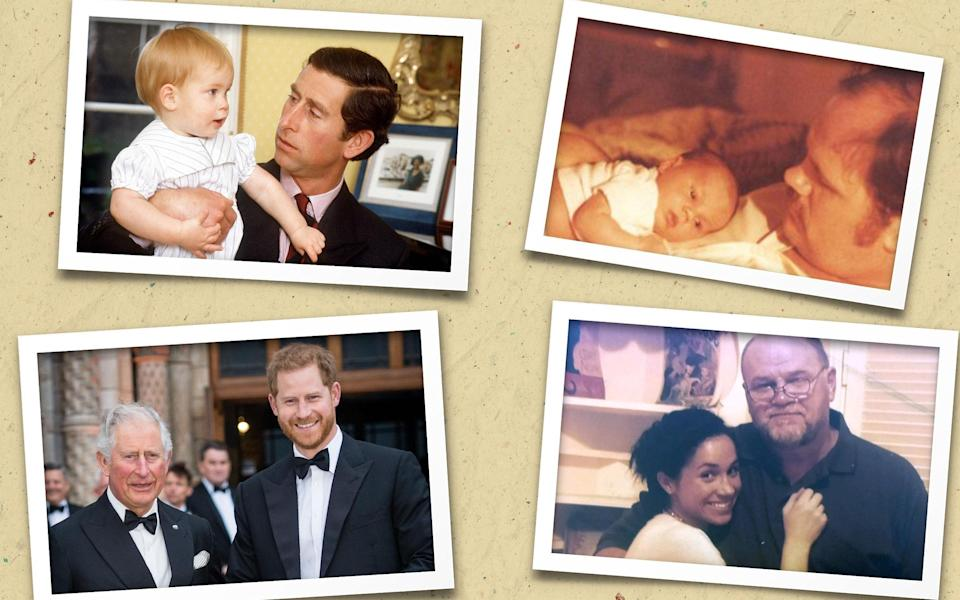 Harry and Meghan with their fathers