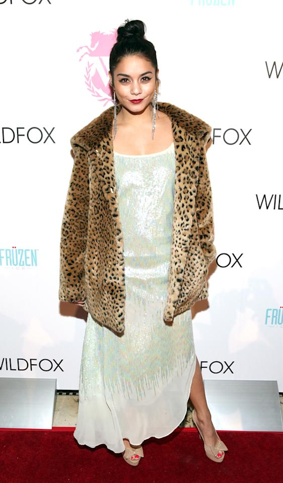 NEW YORK, NY - FEBRUARY 06:  Vanessa Hudgens attends the Wildfox Fall 2013 Collection Presentation & Live Performance at Capitale on February 6, 2013 in New York City.  (Photo by Roger Kisby/Getty Images for Wildfox)