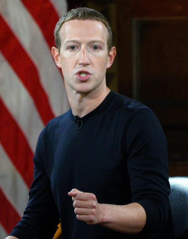 "Facebook founder and CEO Mark Zuckerberg, seen here in 2019, sought to create an oversight board or ""supreme court"" to review contentious content decisions for the leading social network"