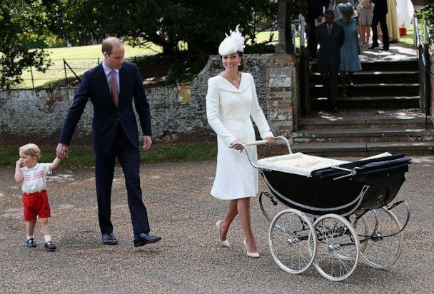 PHOTO: Catherine, Duchess of Cambridge, Prince William, Duke of Cambridge, Princess Charlotte of Cambridge and Prince George of Cambridge leave the Church of St Mary Magdalene for Prince Charlotte's christening on July 5, 2015, in King's Lynn, England. (Chris Jackson/WPA Pool via Getty Images, FILE)