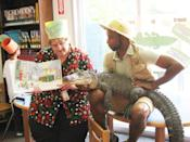 """<div class=""""caption-credit"""">Photo by: Queens Library</div>2013 Challenge: Read 4,000 books <br> Final Results: 4,595 books <br> Scatena made good on her bet when the children exceeded their goal. She read """"There's an Alligator Under My Bed"""" by Mercer Mayer to a crowded library last week. """"Wally is an 18-year-old girl, by the way — and the kids loved her,"""" she says. <br>"""