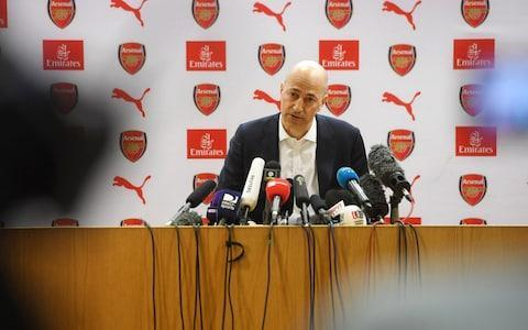 "Arsenal have suspended two of their most prominent academy coaches, Steve Gatting and Carl Laraman, after allegations of bullying. Gatting, who is the Under-23s head coach, and his assistant Laraman are the focus for an internal investigation that began after a series of complaints were made by some players at the club. It is understood that the action was taken around two weeks ago in relation to complaints about a number of incidents, although the precise nature of the allegations are unknown. Arsenal Under-18s coach Kwame Ampadu oversaw the Under-23 team in Tuesday's Premier League International Cup final defeat against Porto at The Emirates. Under Gatting and Laraman, the Under-23 side have won the Premier League 2 competition this season after winning 13 out of 22 and finishing two points above Liverpool. They were also one of 24 teams from England and mainland Europe to play in the International Cup, beating Villarreal, Bayern Munich and Dinamo Zagreb en route to the final. Gatting, 59, made 76 appearances for Arsenal between 1977 and 1981 and was part of the team that reached three consecutive FA Cup finals. He also played for Brighton and Hove Albion in the 1983 FA Cup final. The brother of former England cricket captain Mike, Gatting joined Arsenal's coaching staff for a second spell in 2007. Ivan Gazidis has specifically highlighted the club's progress at academy level Credit: Stuart MacFarlane/Arsenal FC via Getty Images Laraman, 56, joined Arsenal from Charlton in the summer of 2010 and previously ran coaching programmes for children ranging from Under-9 up to Under-13 level. He also oversaw the Under-18s team when they reached the semi-finals of the Youth Cup. A club source told the Islington Gazette that the two coaches were ""under investigations for complaints of bullying"". An Arsenal spokesman confirmed that the club had suspended two coaches and launched an investigation following complaints from some players. ""These are private matters and we will not discuss any further detail,"" said the spokesman. Per Mertesacker will be taking over the academy from next season after retiring as a player. The previous academy manager, Andries Jonker, left in February of last year. Chief executive Ivan Gazidis had specifically highlighted the club's progress at academy level when Arsène Wenger's departure was confirmed and one of the core expectations for the next Arsenal manager is a willingness to give the best young players a first-team chance. ""Under the radar, we've got a lot of players coming through – not just ones that you already know about but the next generation, as well,"" said Gazidis. ""That value of giving youth a chance is very important."" With Wenger's tenure as manager ending at Huddersfield on Sunday, a series of other changes will be made to the coaching staff this summer. First-team coach Boro Primorac, fitness coach Tony Colbert and goalkeeping coach Gerry Peyton are all expected to leave but Steve Bould and Jens Lehmann are likely to be asked to stay. Arsenal do want to retain coaches with a strong Arsenal link in the first-team set-up, although final decisions will also rest on who is appointed as the club's next manager."