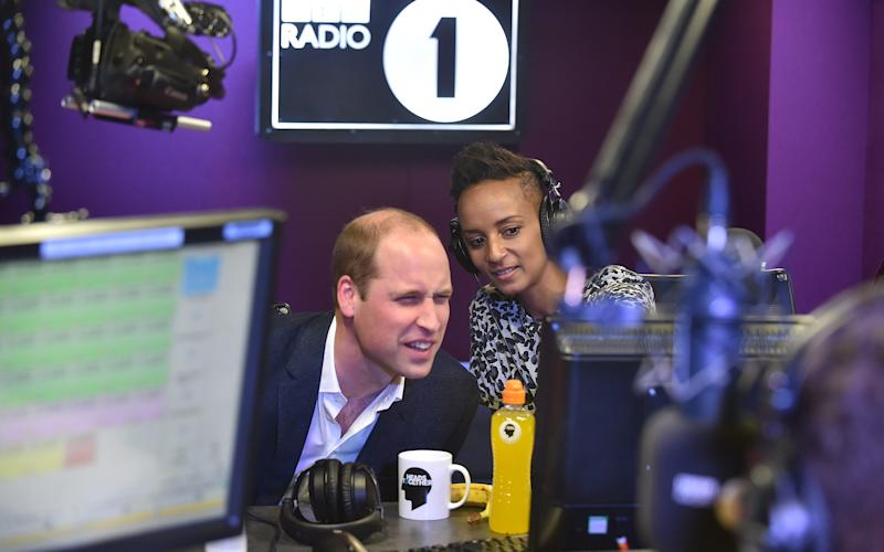 "Prince William reads texts from listeners about ""Royal lube"""