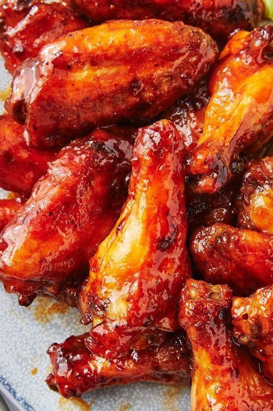 """<p>What even is buffalo sauce? In most cases, it's a simple mixture of melted butter and hot sauce. For us? We like to add a touch of honey, too. To make your own, bring honey and hot sauce to a simmer in a small saucepan, then whisk in butter. Cook until butter has melted and sauce is slightly reduced.</p><p>Get the <a href=""""https://www.delish.com/uk/cooking/recipes/a29571609/classic-buffalo-wings-recipe/"""" rel=""""nofollow noopener"""" target=""""_blank"""" data-ylk=""""slk:Classic Buffalo Chicken Wings"""" class=""""link rapid-noclick-resp"""">Classic Buffalo Chicken Wings</a> recipe.</p>"""