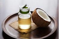 """<p><a href=""""https://www.goodhousekeeping.com/health/diet-nutrition/a42975/coconut-oil-benefits/"""" rel=""""nofollow noopener"""" target=""""_blank"""" data-ylk=""""slk:Coconut oil"""" class=""""link rapid-noclick-resp"""">Coconut oil</a>, an edible oil extracted from the meat of coconuts, is another suitable alternative to vegetable oil. With its relatively high smoke point, it's great for just about any recipe in the kitchen, including for frying — though you'll first need to melt the oil as it's naturally solid at room temperature. It's also perfect for baking due to its natural sweetness.</p>"""