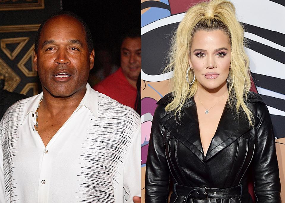 O.J. Simpson said on Twitter that he's not Khloé Kardashian's father. (Photos: Getty Images)