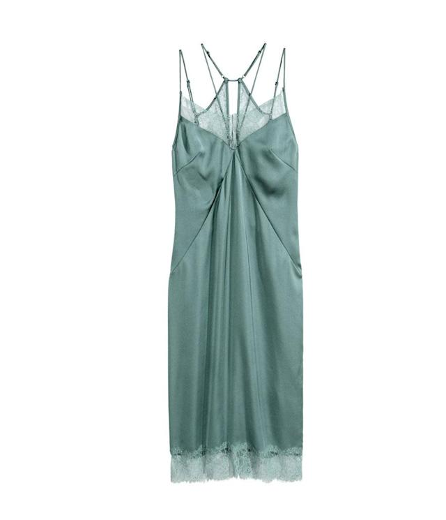 "<p>Satin slipdress, $35, <a href=""http://www.hm.com/us/product/63605?article=63605-A&cm_vc=SEARCH"" rel=""nofollow noopener"" target=""_blank"" data-ylk=""slk:hm.com"" class=""link rapid-noclick-resp"">hm.com</a> </p>"