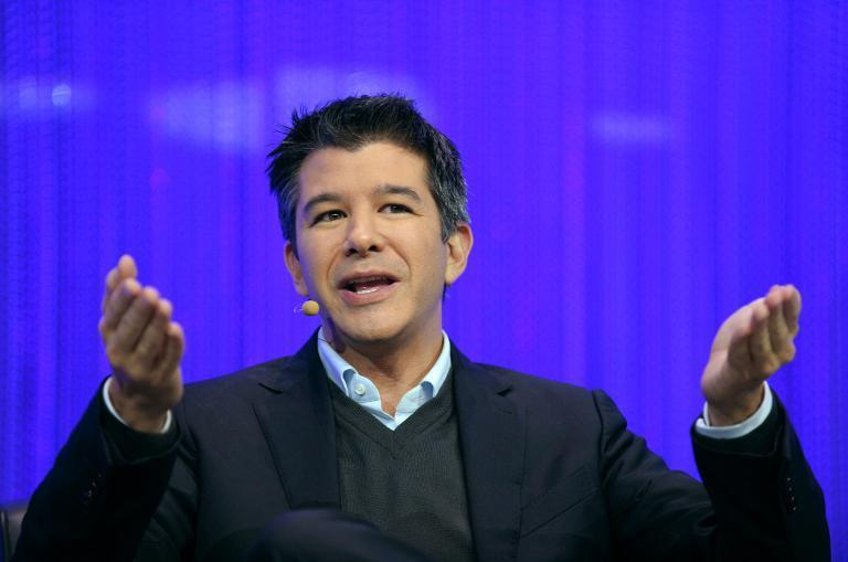 Travis Kalanick, co-founder and CEO of Uber, speaking during a session of the LeWeb 2013 event in Saint-Denis near Paris