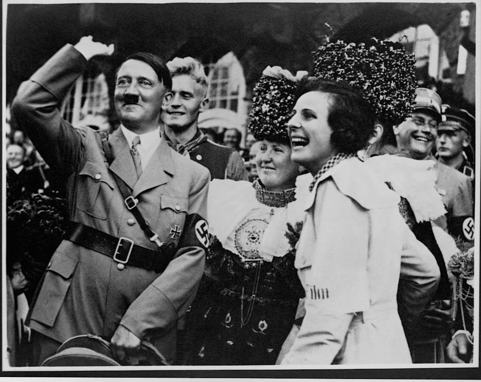 """<div class=""""inline-image__caption""""><p>Adolf Hitler and Leni Riefenstahl </p></div> <div class=""""inline-image__credit"""">Library of Congress</div>"""