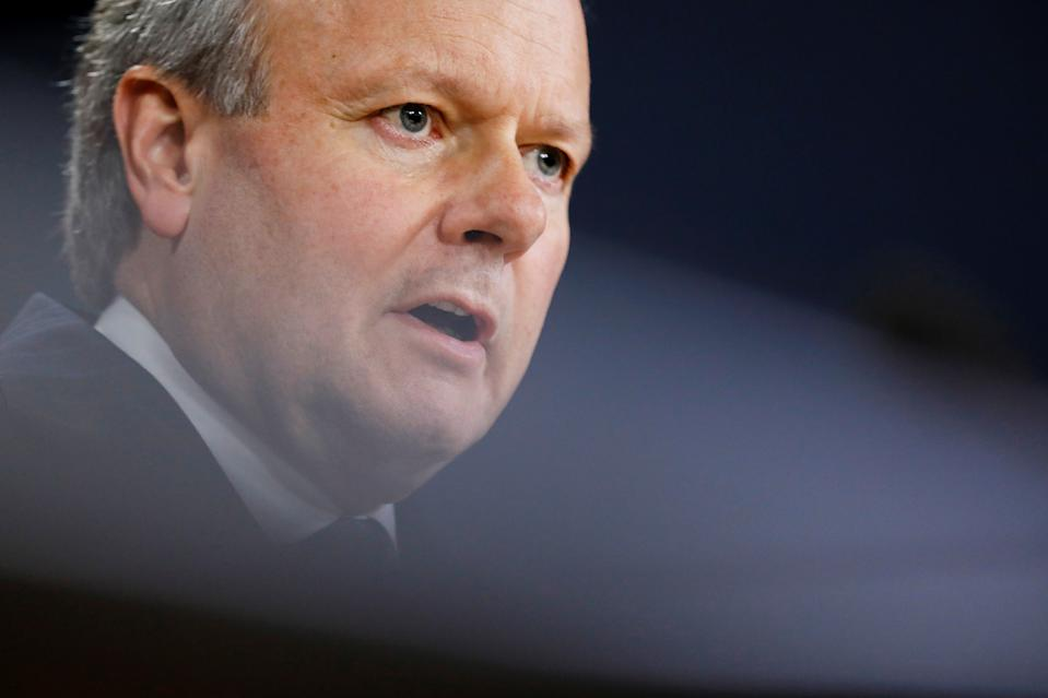 Bank of Canada Governor Stephen Poloz speaks to reporters after announcing the latest rate decision in Ottawa, Ontario, Canada October 30, 2019.  REUTERS/Blair Gable