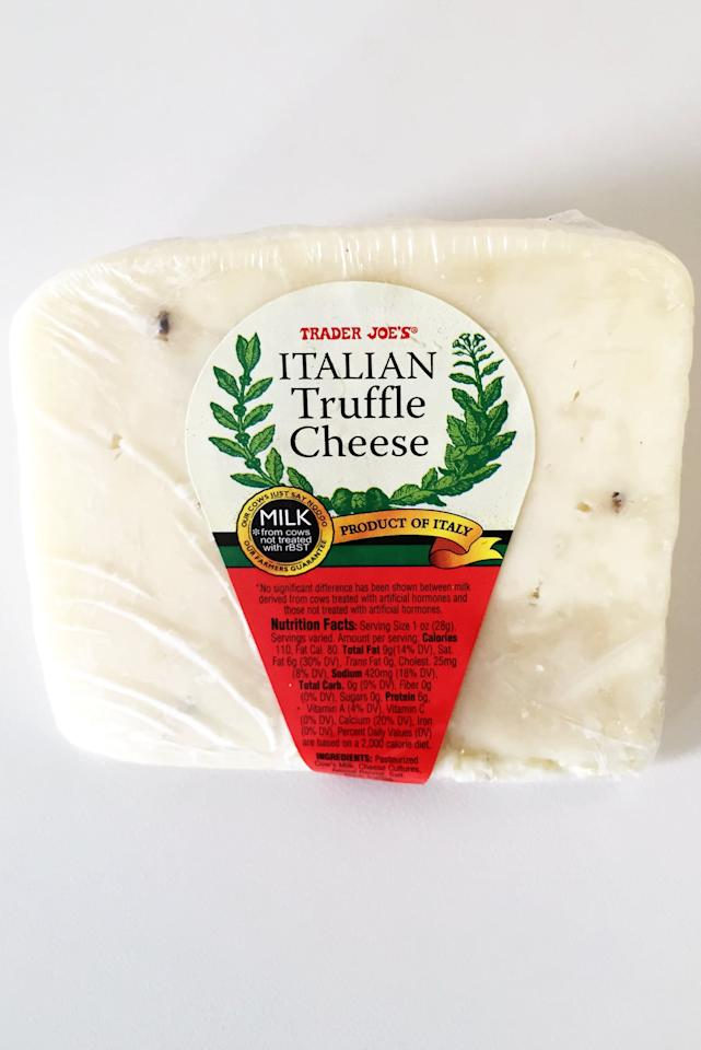 <p>This semisoft cheese has just the right amount of truffle (i.e. earthy and aromatic without being overwhelming) and is also amazing when melted into a grilled cheese.</p>