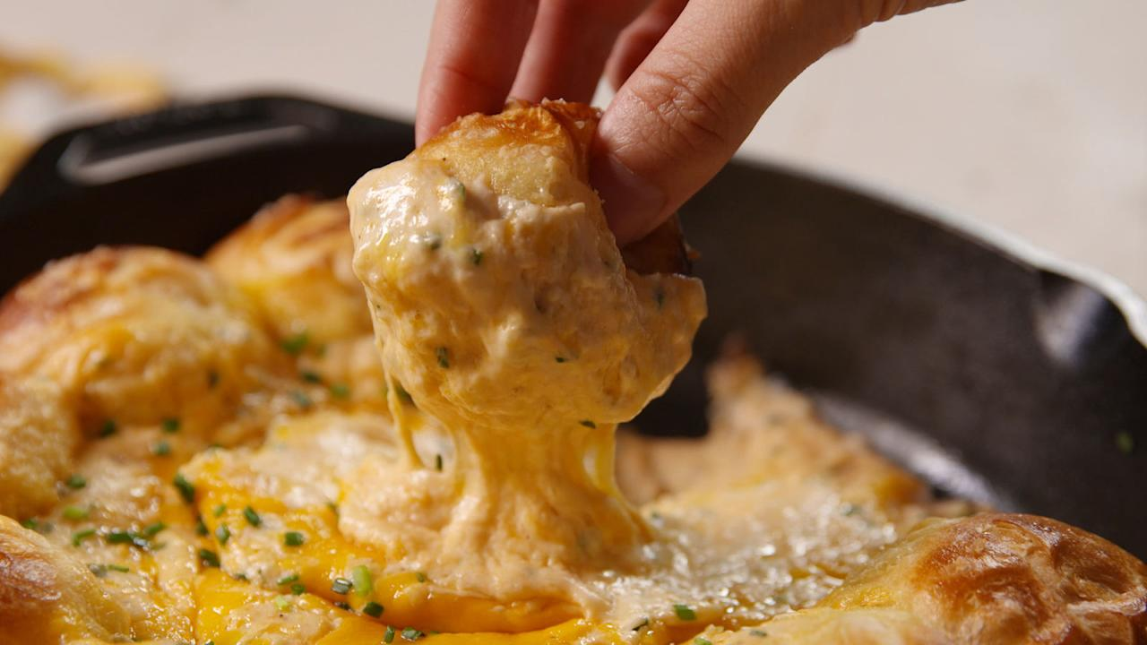 "<p>This cheesy snack is the best thing to ever happen to your skillet.<span></span><br></p><p>Get the recipe from <a rel=""nofollow"" href=""http://www.delish.com/cooking/recipe-ideas/recipes/a49208/pretzel-ring-beer-cheese-dip-recipe/"">Delish</a>.</p>"