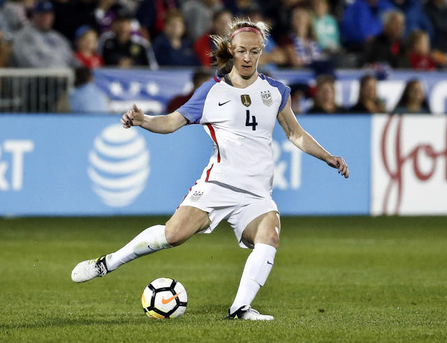 Becky Sauerbrunn pointed out that despite the 100 percent increase in prize money for the women's World Cup, the gap between the men's and women's prize money actually increased. (AP Photo)