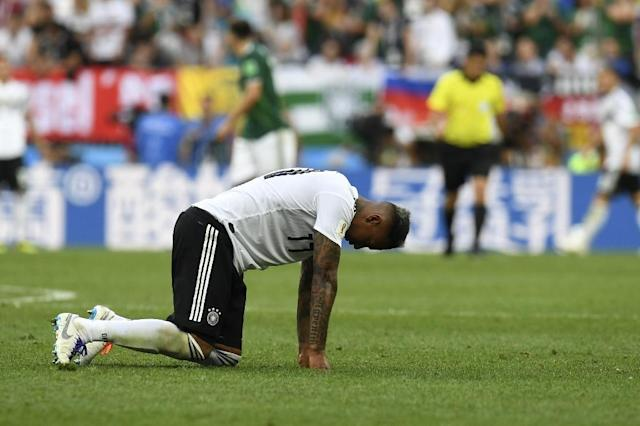 Centre-back Jerome Boateng is one of Germany's stars under pressure to get a win against Sweden on Saturday in Sochi at the World Cup to ensure the holders stay in the tournament. (AFP Photo/Patrik STOLLARZ)