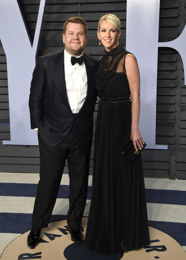 <p>The talk show host brought wife Julia Carey to <em>Vanity Fair</em>'s after-party. (Photo: Evan Agostini/Invision/AP) </p>