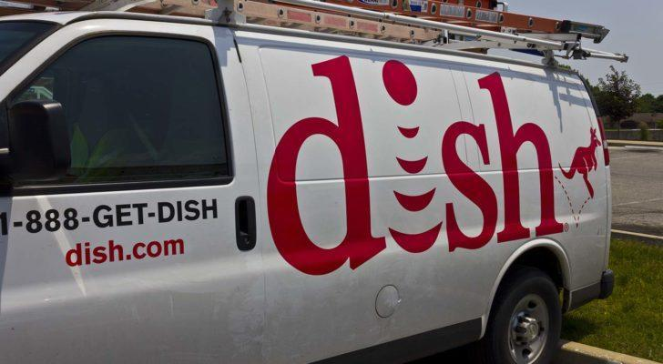 A van for DISH Network (DISH) is parked.