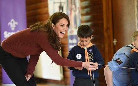 Kate joins in a rocket launching activity - Credit: Eddie Mulholland For The Telegraph