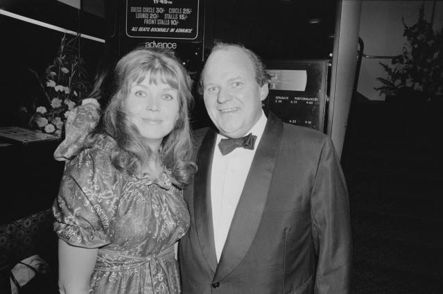 British actors Roy Kinnear (1934 - 1988) and Carmel Cryan attend the premiere of melodrama film 'They Shoot Horses, Don't They?' at the Prince Charles Cinema, Soho, London, UK, 10th July 1970. (Photo by P. Shirley/Daily Express/Hulton Archive/Getty Images)