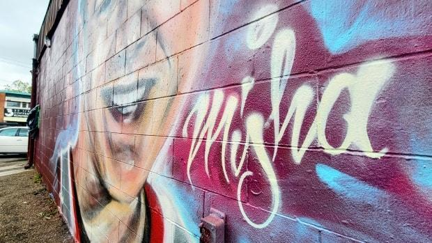 The mural in memory of Misha will be up for one year.