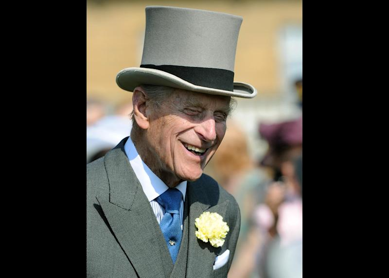 "The Duke of Edinburgh attending a Garden Party at Buckingham Palace, London Thursday June 6, 2013. Buckingham Palace says Queen Elizabeth II's husband was later admitted to a London hospital for an exploratory operation. The palace said the operation on 91-year-old Prince Philip will come after ""abdominal investigations,"" but did not elaborate. (AP Photo/ Anthony Devlin, pool)"