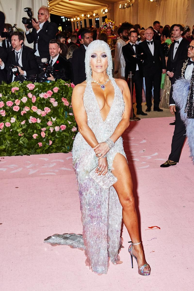Jennifer Lopez on the red carpet at the Met Gala in New York City on Monday, May 6th, 2019. Photograph by Amy Lombard for W Magazine.