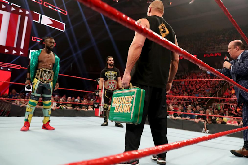 WWE RAW Results: Brock Lesnar Teases Kofi Kingston and Seth Rollins With Newly-Won MITB Briefcase