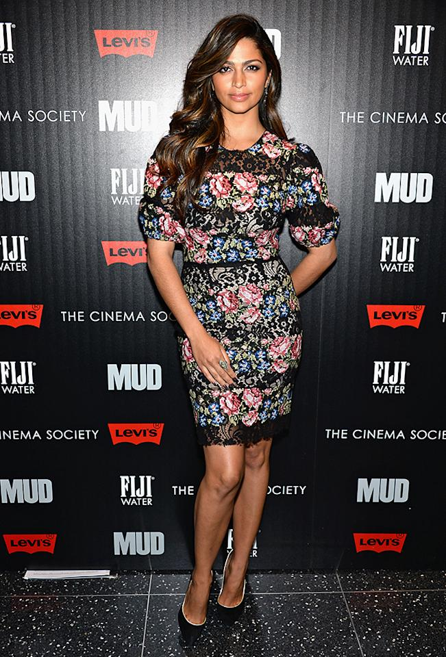 "NEW YORK, NY - APRIL 21:  Camila Alves attends The Cinema Society With FIJI Water & Levi's screening of ""Mud"" at The Museum of Modern Art on April 21, 2013 in New York City.  (Photo by Dimitrios Kambouris/Getty Images)"